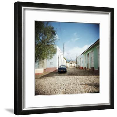 Street Scene with Colourful Houses, Trinidad, Cuba, West Indies, Central America-Lee Frost-Framed Photographic Print