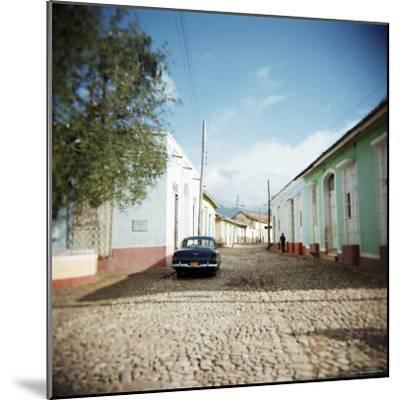 Street Scene with Colourful Houses, Trinidad, Cuba, West Indies, Central America-Lee Frost-Mounted Photographic Print