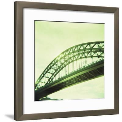 Arched Bridge Over River Tyne, Newcastle Upon Tyne, Tyne and Wear, England, United Kingdom, Europe-Lee Frost-Framed Photographic Print