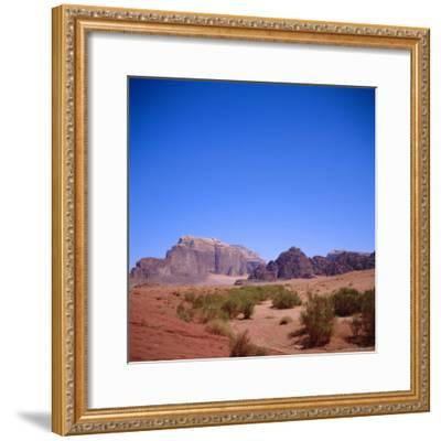 Jabal Rum, Desert Landscape in Southern Jordan, Wadi Rum, Jordan, Middle East-Christopher Rennie-Framed Photographic Print