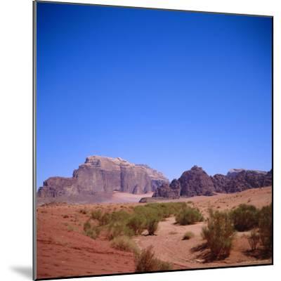 Jabal Rum, Desert Landscape in Southern Jordan, Wadi Rum, Jordan, Middle East-Christopher Rennie-Mounted Photographic Print