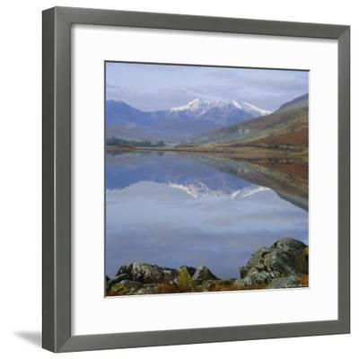 The Snowdon Range from Capel Curig Across Llynnau Mymbr, Snowdonia National Park, North Wales, UK-Roy Rainford-Framed Photographic Print