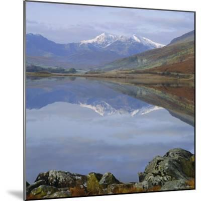 The Snowdon Range from Capel Curig Across Llynnau Mymbr, Snowdonia National Park, North Wales, UK-Roy Rainford-Mounted Photographic Print