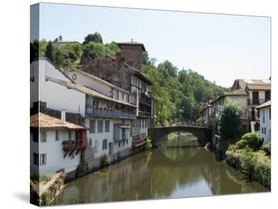 Saint Jean Pied De Port, Basque Country, Pyrenees-Atlantiques, Aquitaine, France-Robert Harding-Stretched Canvas Print
