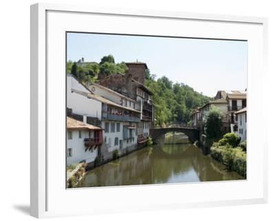Saint Jean Pied De Port, Basque Country, Pyrenees-Atlantiques, Aquitaine, France-Robert Harding-Framed Photographic Print