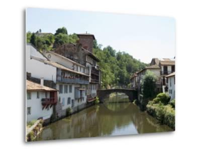 Saint Jean Pied De Port, Basque Country, Pyrenees-Atlantiques, Aquitaine, France-Robert Harding-Metal Print