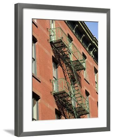 Fire Escapes on the Outside of Buildings in Spring Street, Soho, Manhattan, New York, USA-Robert Harding-Framed Photographic Print