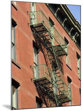 Fire Escapes on the Outside of Buildings in Spring Street, Soho, Manhattan, New York, USA-Robert Harding-Mounted Photographic Print