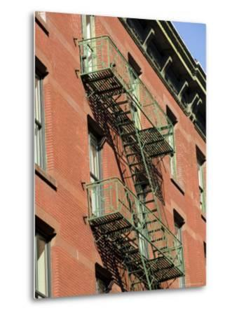 Fire Escapes on the Outside of Buildings in Spring Street, Soho, Manhattan, New York, USA-Robert Harding-Metal Print