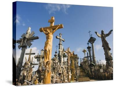Hill of Crosses (Kryziu Kalnas), Thousands of Memorial Crosses, Lithuania, Baltic States-Christian Kober-Stretched Canvas Print