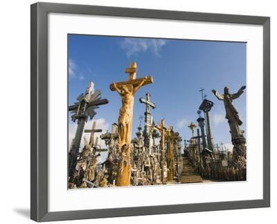Hill of Crosses (Kryziu Kalnas), Thousands of Memorial Crosses, Lithuania, Baltic States-Christian Kober-Framed Photographic Print