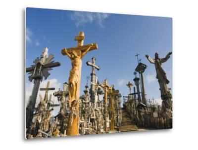 Hill of Crosses (Kryziu Kalnas), Thousands of Memorial Crosses, Lithuania, Baltic States-Christian Kober-Metal Print