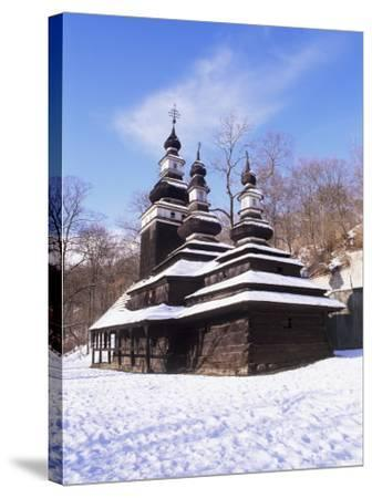 Christian Orthodox Wooden Church of St. Michael from the 18th Century, Prague, Czech Republic-Richard Nebesky-Stretched Canvas Print