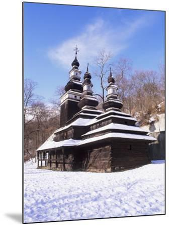Christian Orthodox Wooden Church of St. Michael from the 18th Century, Prague, Czech Republic-Richard Nebesky-Mounted Photographic Print