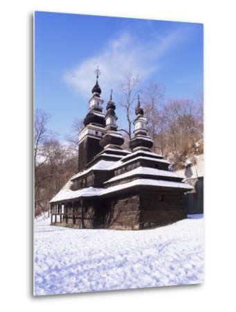 Christian Orthodox Wooden Church of St. Michael from the 18th Century, Prague, Czech Republic-Richard Nebesky-Metal Print