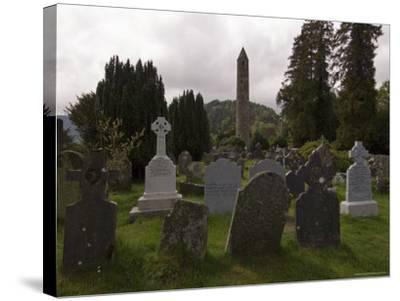 The 6th Century St. Kevin Monastery, Glendalough, County Wicklow, Leinster, Republic of Ireland-Sergio Pitamitz-Stretched Canvas Print