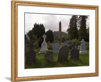 The 6th Century St. Kevin Monastery, Glendalough, County Wicklow, Leinster, Republic of Ireland-Sergio Pitamitz-Framed Photographic Print