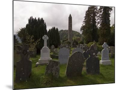 The 6th Century St. Kevin Monastery, Glendalough, County Wicklow, Leinster, Republic of Ireland-Sergio Pitamitz-Mounted Photographic Print