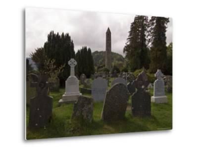 The 6th Century St. Kevin Monastery, Glendalough, County Wicklow, Leinster, Republic of Ireland-Sergio Pitamitz-Metal Print