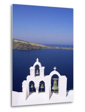 Bell Tower on Christian Church, Oia (Ia), Santorini (Thira), Aegean Sea, Greece-Sergio Pitamitz-Metal Print