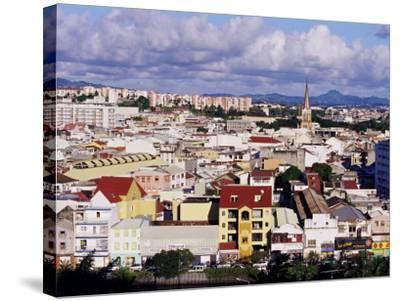 Skyline of Fort De France, Island of Martinique, Lesser Antilles, French West Indies, Caribbean-Yadid Levy-Stretched Canvas Print