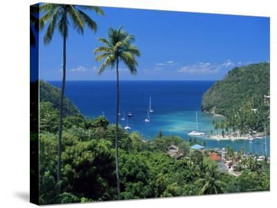 Elevated View Over Marigot Bay, Island of St. Lucia, Windward Islands, West Indies, Caribbean-Yadid Levy-Stretched Canvas Print