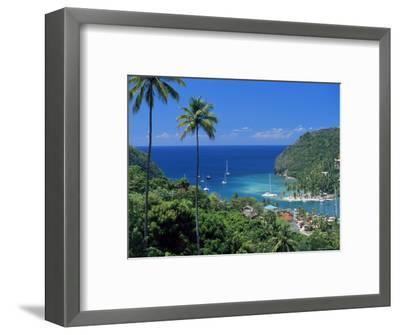 Elevated View Over Marigot Bay, Island of St. Lucia, Windward Islands, West Indies, Caribbean-Yadid Levy-Framed Photographic Print