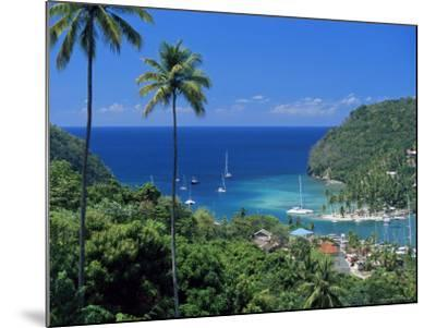 Elevated View Over Marigot Bay, Island of St. Lucia, Windward Islands, West Indies, Caribbean-Yadid Levy-Mounted Photographic Print