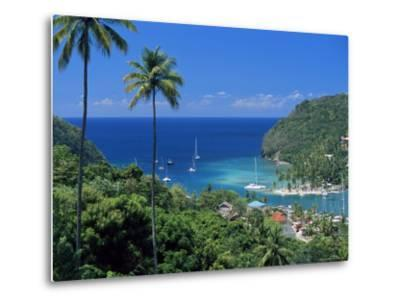 Elevated View Over Marigot Bay, Island of St. Lucia, Windward Islands, West Indies, Caribbean-Yadid Levy-Metal Print