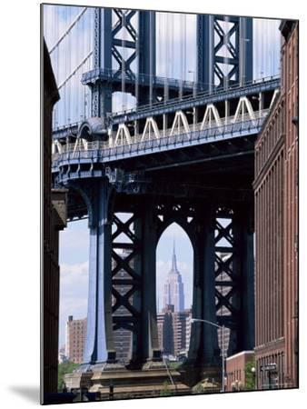 Empire State Building Seen Through the Manhattan Bridge, Brooklyn, New York, New York State, USA-Yadid Levy-Mounted Photographic Print