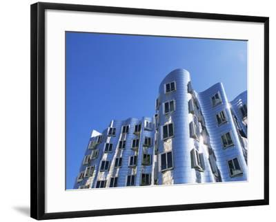 The Neuer Zollhof Building by Frank Gehry, Nord Rhine-Westphalia, Germany-Yadid Levy-Framed Photographic Print