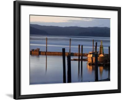 Crab Pots on Deck, Grayland Dock, Grays Harbor County, Washington State, United States of America-Aaron McCoy-Framed Photographic Print