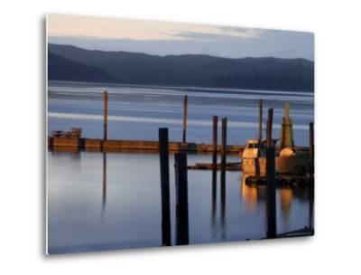 Crab Pots on Deck, Grayland Dock, Grays Harbor County, Washington State, United States of America-Aaron McCoy-Metal Print