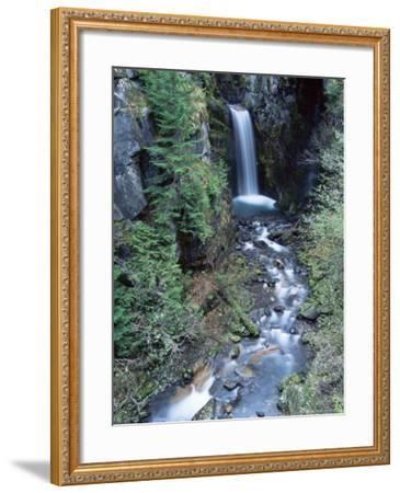 Christine Falls, Mount Rainier National Park, Washington State-Colin Brynn-Framed Photographic Print