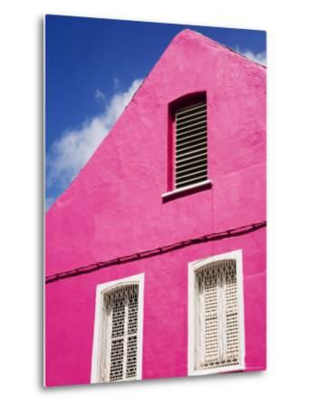 Pink Building on Republique Street, Fort-De-France, Martinique, French Antilles, West Indies-Richard Cummins-Metal Print