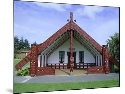 Maori Marae, or Meeting House, at Putiki, North Island, New Zealand-Robert Francis-Mounted Photographic Print
