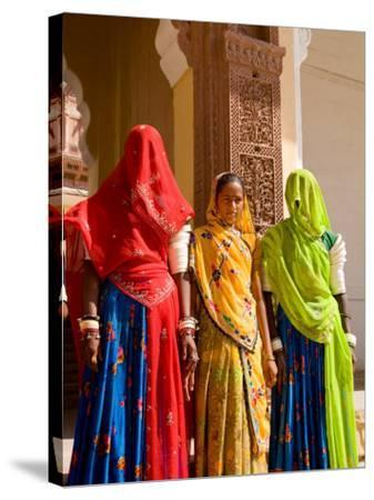 Women in Doorway of Fort Palace, Jodhpur, Fort Mehrangarh, Rajasthan, India-Bill Bachmann-Stretched Canvas Print