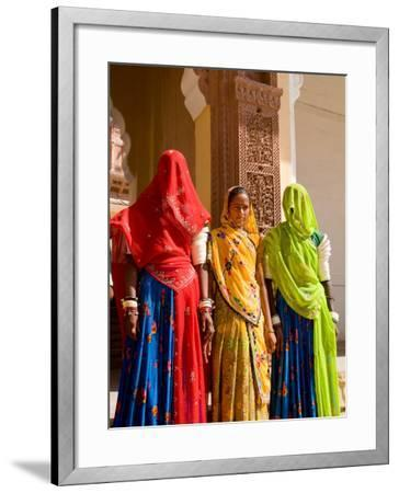 Women in Doorway of Fort Palace, Jodhpur, Fort Mehrangarh, Rajasthan, India-Bill Bachmann-Framed Photographic Print