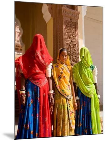 Women in Doorway of Fort Palace, Jodhpur, Fort Mehrangarh, Rajasthan, India-Bill Bachmann-Mounted Photographic Print