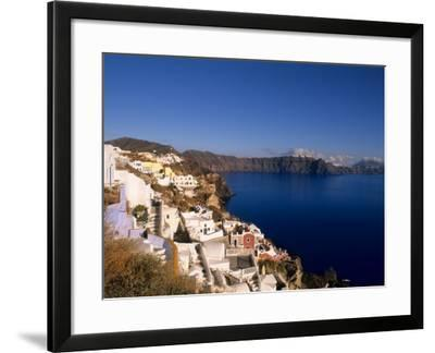 White Buildings on the Cliffs in Oia, Santorini, Greece-Bill Bachmann-Framed Photographic Print