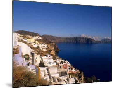 White Buildings on the Cliffs in Oia, Santorini, Greece-Bill Bachmann-Mounted Photographic Print
