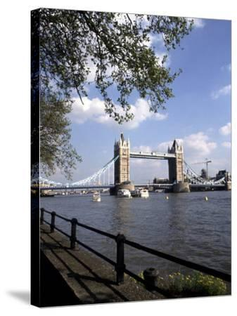 Tower Bridge over the River Thames, London, England-Bill Bachmann-Stretched Canvas Print