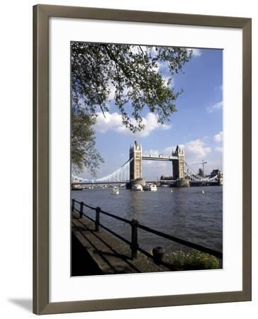 Tower Bridge over the River Thames, London, England-Bill Bachmann-Framed Photographic Print