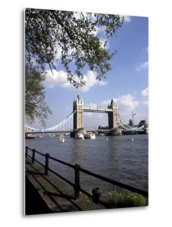 Tower Bridge over the River Thames, London, England-Bill Bachmann-Metal Print