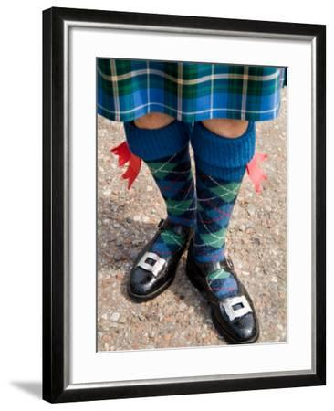 Bagpipe Player at the Loch Ness Area near Drumnadrochit Home, Scottish Highlands-Bill Bachmann-Framed Photographic Print