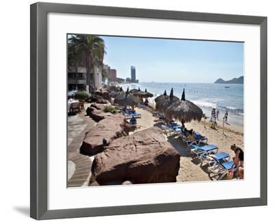 View of Playa Gaviotas at the El Cid Resort, Mazatlan, Mexico-Charles Sleicher-Framed Photographic Print