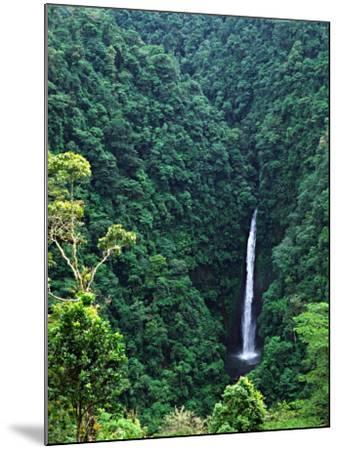 Waterfall near Poas Volcano, Poas Volcano National Park, Costa Rica-Charles Sleicher-Mounted Photographic Print