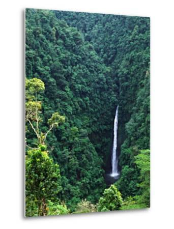 Waterfall near Poas Volcano, Poas Volcano National Park, Costa Rica-Charles Sleicher-Metal Print