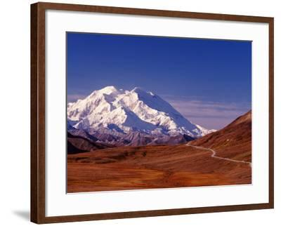 Mt. Denali from Stony Hill in Fall, Mt. McKinley, Alaska, USA-Charles Sleicher-Framed Photographic Print
