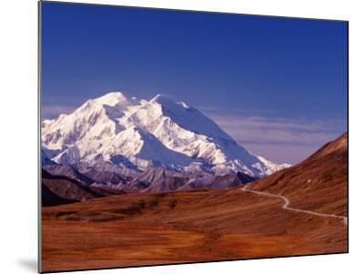 Mt. Denali from Stony Hill in Fall, Mt. McKinley, Alaska, USA-Charles Sleicher-Mounted Photographic Print
